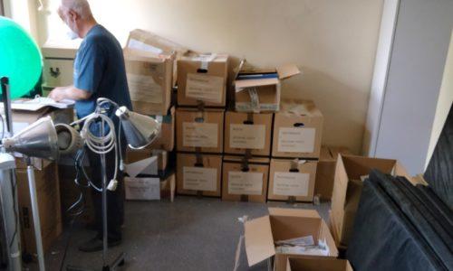Voluntariado de Madrid en el almacén